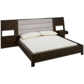 Queen Platform Bed with Nightstands