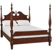 Queen Broken Pediment Poster Bed