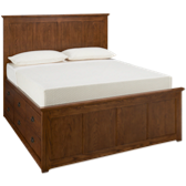 Queen Panel Bed with Underbed Storage