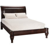 Queen Low Profile Leather Bed