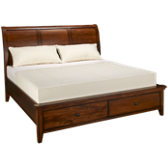 King Platform Sleigh Bed
