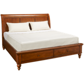 King Sleigh Bed with Storage