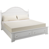 King Storage Panel Bed