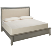 French Market King Upholstered Low Profile Bed