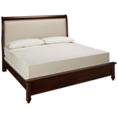 French Market Upholstered Low Profile King Bed