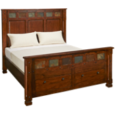 Queen Panel Bed with Underbed Storage Drawers