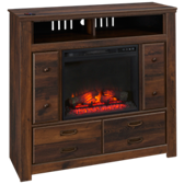 Quinden Media Unit with Fireplace