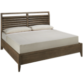 King Platform Bed with 2 Storage Drawers
