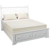 Queen Storage Slat Bed