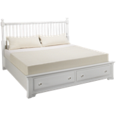 King Storage Slat Bed