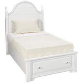 Twin Storage Panel Bed