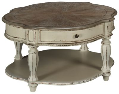liberty furniture magnolia manor round cocktail table product image