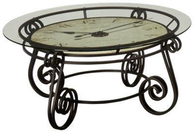 Howard miller ravenna howard miller ravenna round clock for Clock coffee table round