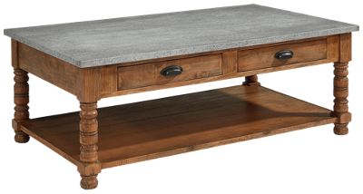 magnolia home bobbin coffee table with zinc top furniture