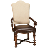 Upholstered/Leather Arm Chair