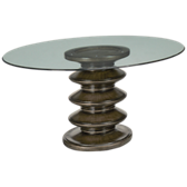 "Kate 60"" Round Glass Pedestal Table"