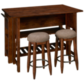 Southern Pines Kitchen Island with Stools