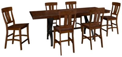 interconthe the district 7 piece counter height dining set furniture