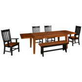Rustic Traditions 6 Piece Dining Set