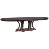 Double Pedestal Table with (2) 18