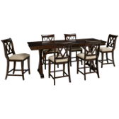 Pub Table and 6 Pub Chairs