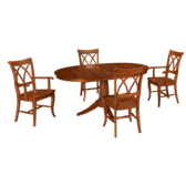 Round Honey 5 Piece Dining Set
