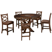 Savannah 6 Piece Round Counter Height Dining Set