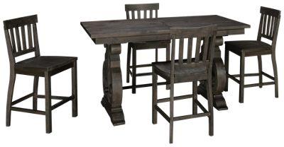 magnussen bellamy 5 piece counter height dining set - Magnussen Furniture