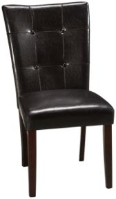 Bi Cast Leather Side Chair