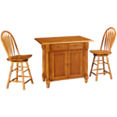 3 Piece Island Dining Set