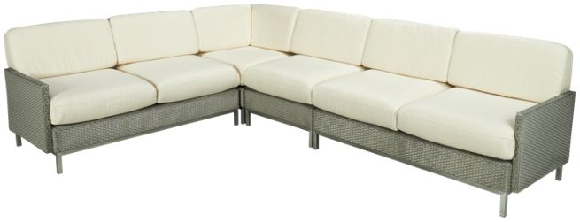 Lloyd Flanders - Elements - 4 Piece Outdoor Sectional - Outdoor ...