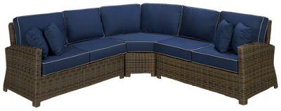 Cape May Wicker Bainbridge Cape May Wicker Bainbridge 3 Piece Outdoor  Sectional   Jordanu0027s Furniture
