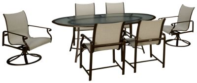 Delightful Brown Jordan Aegean 7 Piece Outdoor Dining Set