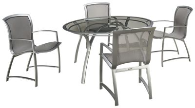 Brown Jordan Wave 5 Piece Outdoor Dining Set