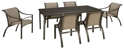 Brown Jordan Pasadena Brown Jordan Pasadena 7 Piece Outdoor Dining Set   Jordanu0027s  Furniture
