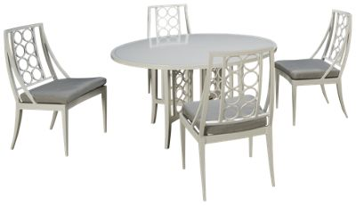 Brown Jordan Luna 5 Piece Outdoor Dining Set