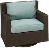 Swivel Glider Club Chair with Seat and Back Cushion