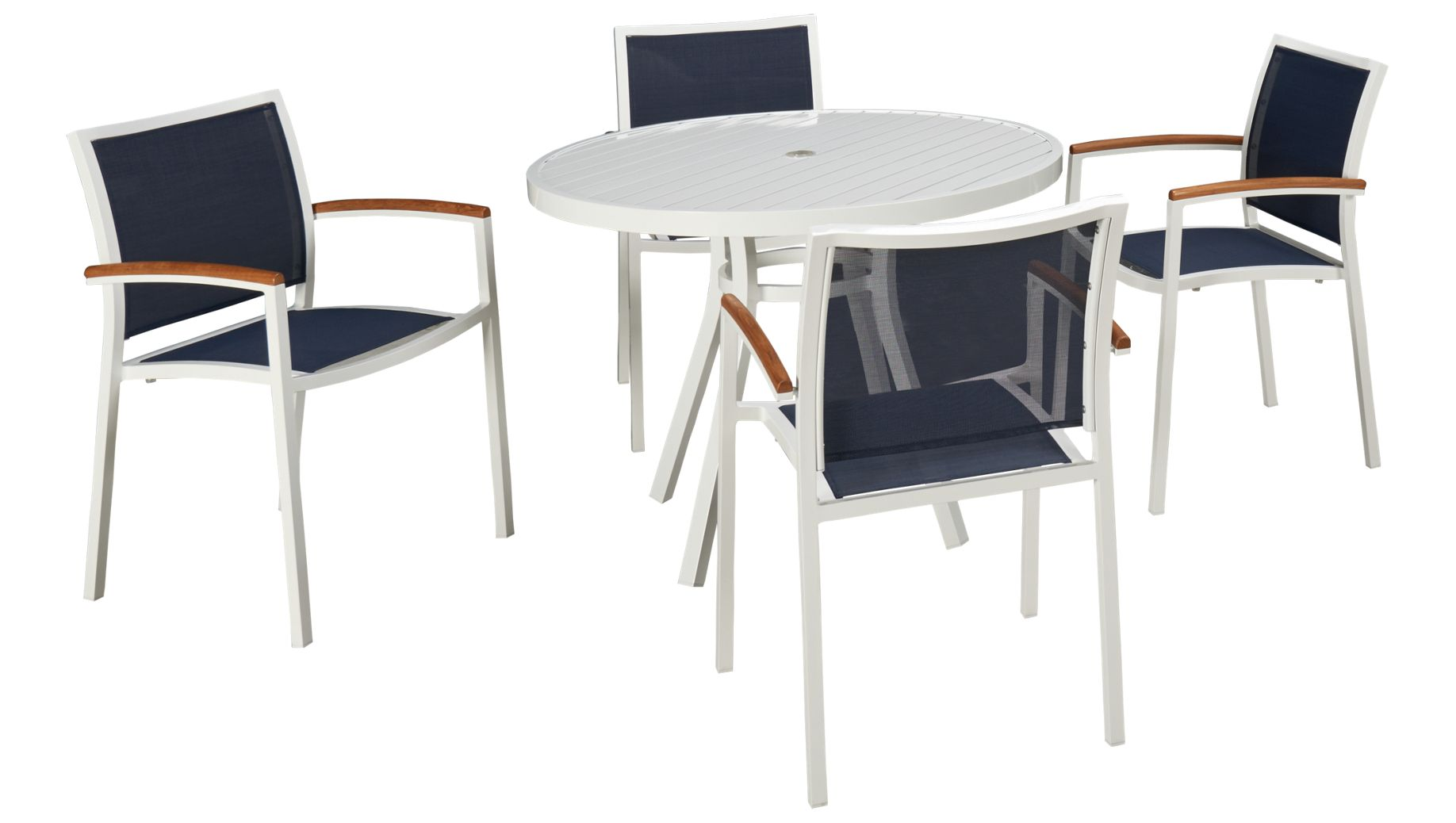 Outdoor dining furniture outdoor dining sets lloyd flanders dining - Lloyd Flanders Lux 5 Piece Outdoor Dining Set