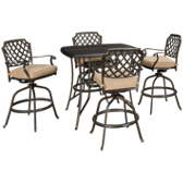 5 Piece Outdoor Bar Height Dining Set
