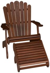 Adirondack Chair and Footrest