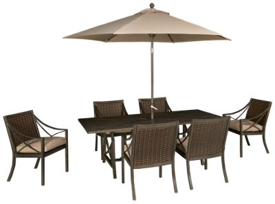 Agio International Davenport 8 Piece Outdoor Dining Set