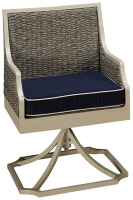 Cape May Wicker Mooring Cape May Wicker Mooring Swivel Dining Chair With Seat