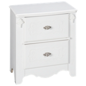 Exquisite 2 Drawer Nightstand