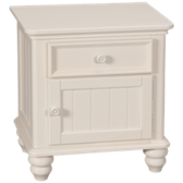 1 Drawer 1 Door Nightstand