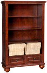 Bookcase with 2 Baskets