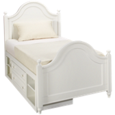 Twin Low Post Bed with Storage
