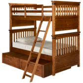 Bryce Canyon Twin over Twin Bunk Bed with Trundle