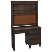 Surf City 4 Drawer Desk with Hutch
