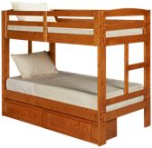 Twin Bunk Beds with Storage Drawers