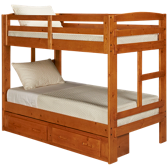 Twin Bunk Beds with Underbed Storage Drawers